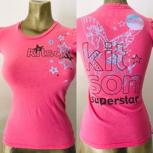 KITSON Los Angeles STUDDED Superstar TEE SHIRT XS